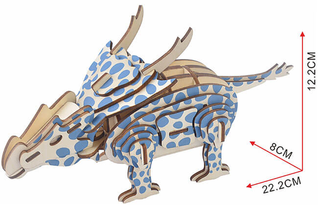 Ахелузавр деревянный 3d пазл
