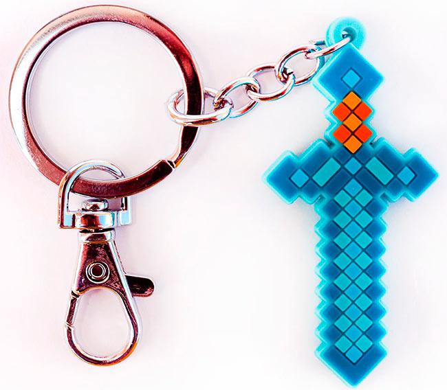 Брелок Алмазный меч из Майнкрафт - продаем по оптовым ценам