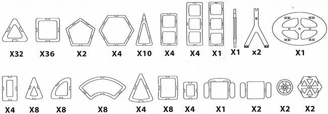 Конструктор Mag Wisdom 148 деталей - продаем по оптовым ценам