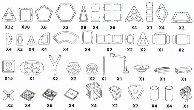 Конструктор Mag Wisdom 188 деталей - продаем по оптовым ценам