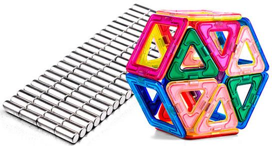 В наших конструкторах используются неодимовые магниты
