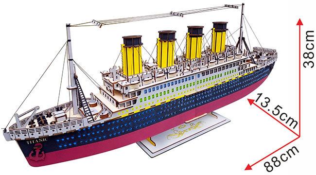 Титаник деревянный конструктор